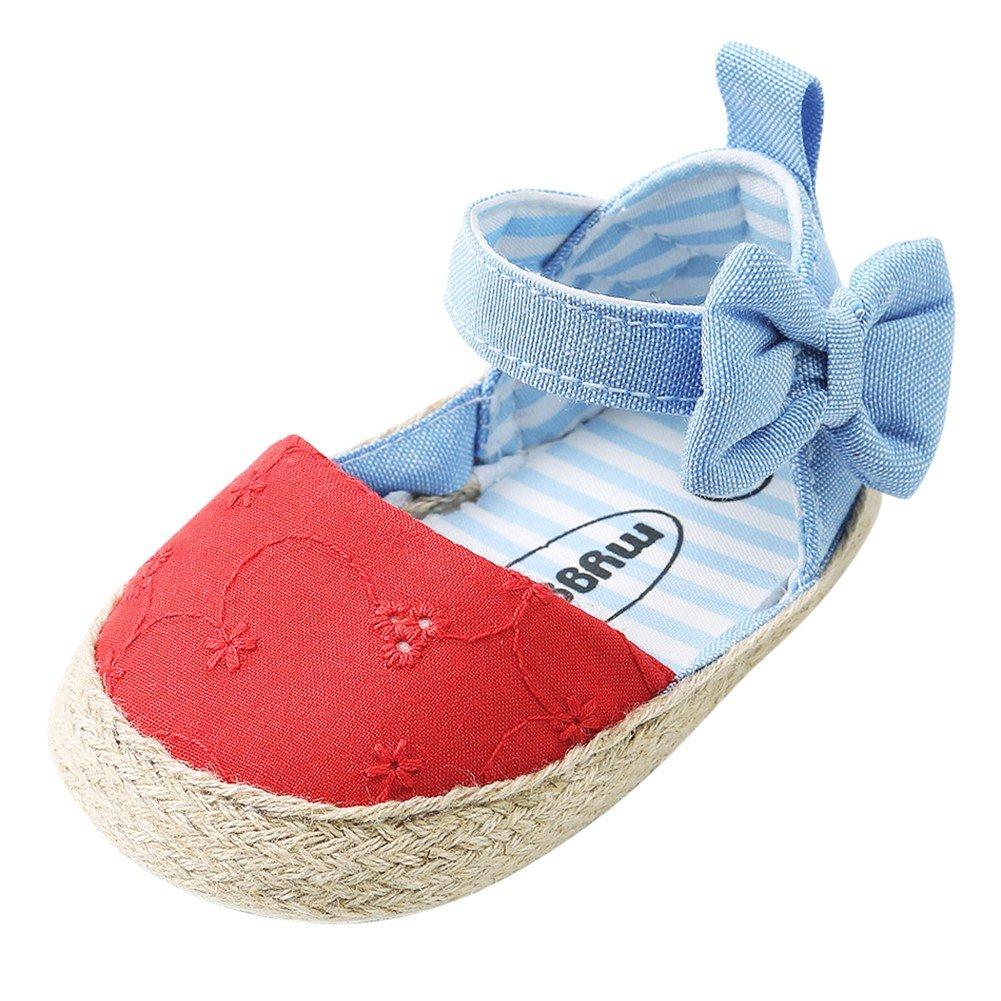 ad61b5f9e55a4 Minuya Chaussures de Bébé, Chaussures Bebe Fille Cuir Souple Bowknot Ete  Sandales Chaussures Premiers Pas pour Bébé Fille: Amazon.fr: Chaussures et  Sacs