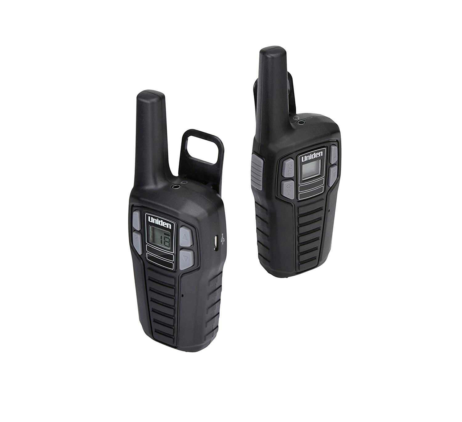 Rechargeable Batteries with Convenient Charging Cable 2-Pack Black Color Roger Beep FRS Two-Way Radio Walkie Talkies NOAA Weather Channels Uniden SX167-2CH Up to 16 Mile Range