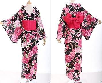 4c061cde3c44 K - 53 fleurs femme oRIGINAL kimono japonais yUKATA oBI kawaii story- ceinture