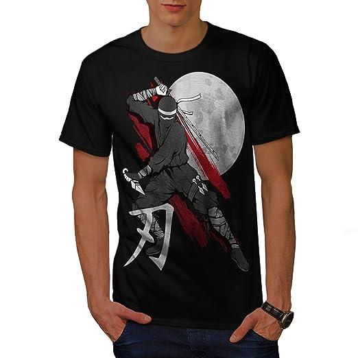 wellcoda Moon Ninja Japan Mens T-Shirt, Ninja Graphic ...