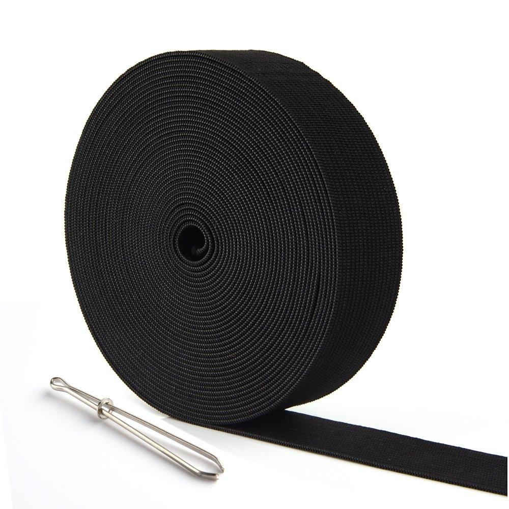 KUUQA 6 Metres//6.56 Yards Long Flat Elastic Bands Elastic Cord Spool Sewing Bands DIY Sewing Craft Accessories,25mm Wide