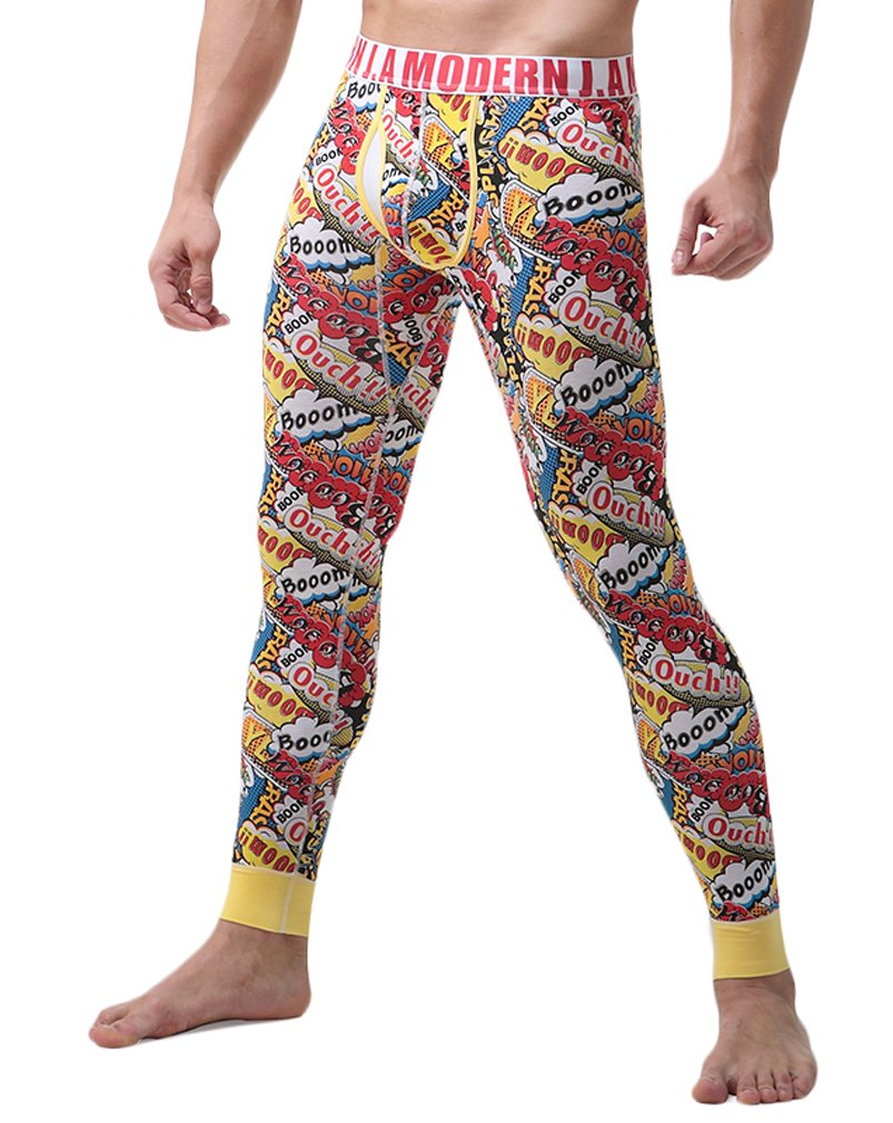 WUAMBO Men's Compression Performance Long Johns Thermal Underwear #1 Waist 30-32''