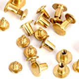 Round Flat Head Chicago Screws Buttons for