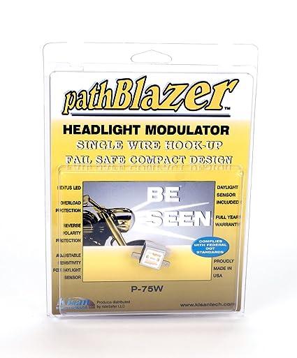 Universal Motorcycle Headlight Modulator P75W with Plug n Play Programming, on
