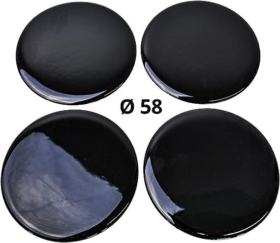 4x Silikon Aufkleber Embleme Für Nabenkappen Motiv Black Schwarz Durchmesser 58 Mm Auto