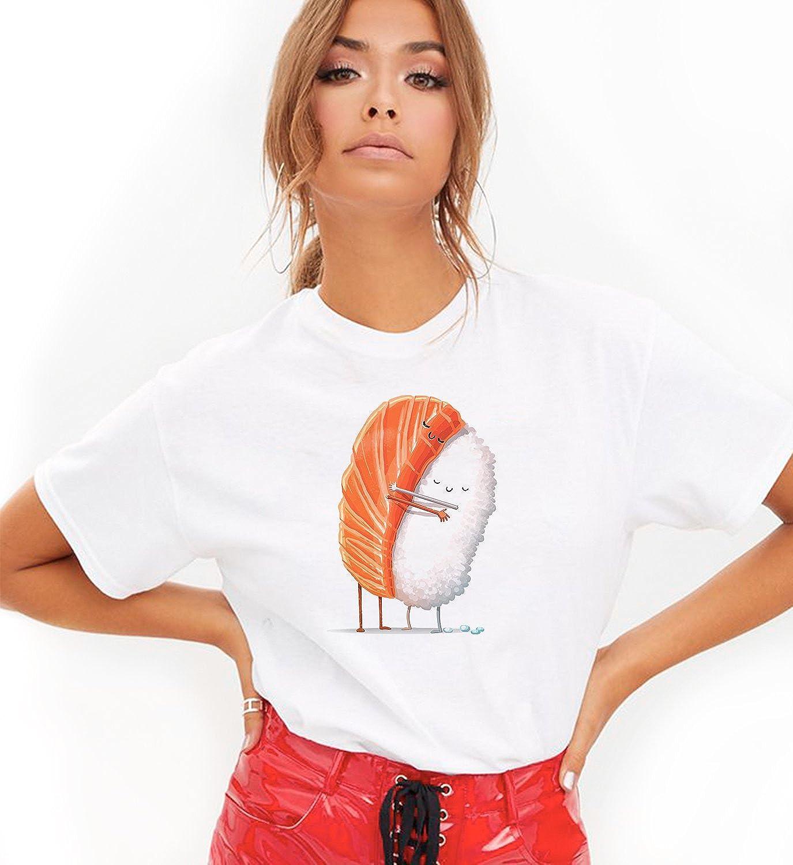 Sushi Friendship Love Rice and Salmon Japan Unisex T-Shirt Camiseta Shirt para la Mujer Hombres Camisa Womens Women Men Tshirt Regalo De Cumpleaños Navidad: Amazon.es: Ropa y accesorios