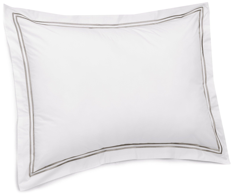 Pinzon 400-Thread-Count Egyptian Cotton Sateen Hotel Stitch Sham - King, Silver Grey by Pinzon by Amazon
