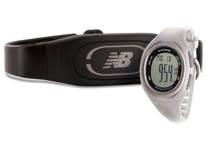 New Balance N4 - Reloj digital con monitor de ritmo cardiaco, color negro blanco Pearl: Amazon.es: Deportes y aire libre