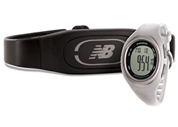 New Balance N4 - Reloj digital con monitor de ritmo cardiaco, color negro blanco Pearl