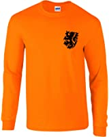 Retro Dutch Holland Netherlands long-sleeved football shirt 60's 70's style , old fashioned
