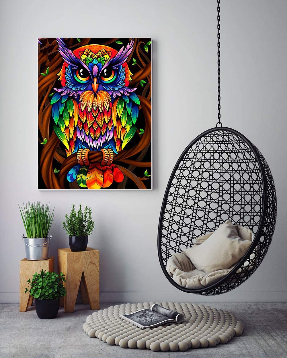 DIY 5D Diamond Painting Kits for Adults Full Drill Embroidery Paintings Rhinestone Pasted DIY Painting Cross Stitch Arts Crafts for Home Wall Decor,Dog(12x12inch)