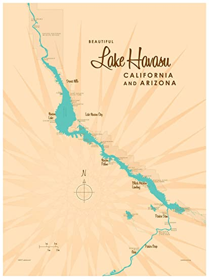 Amazon.com: Lake Havasu, California & Arizona Vintage-Style ... on bass lake map, city of lake elsinore map, canyon lake map, havasu city map, havasupai falls map, havasu springs map, coachella valley map, lake gogebic map nearest city, lake tahoe city map, riggs flat lake map, havasu falls map, san francisco bay map, arizona map, laughlin map, yuma map, costa mesa map, lake park map, colorado river map, sacramento map, phoenix map,