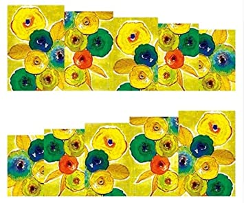 Amazon Com 1 Sheet Rose Flower Nail Art Stickers Water Transfer
