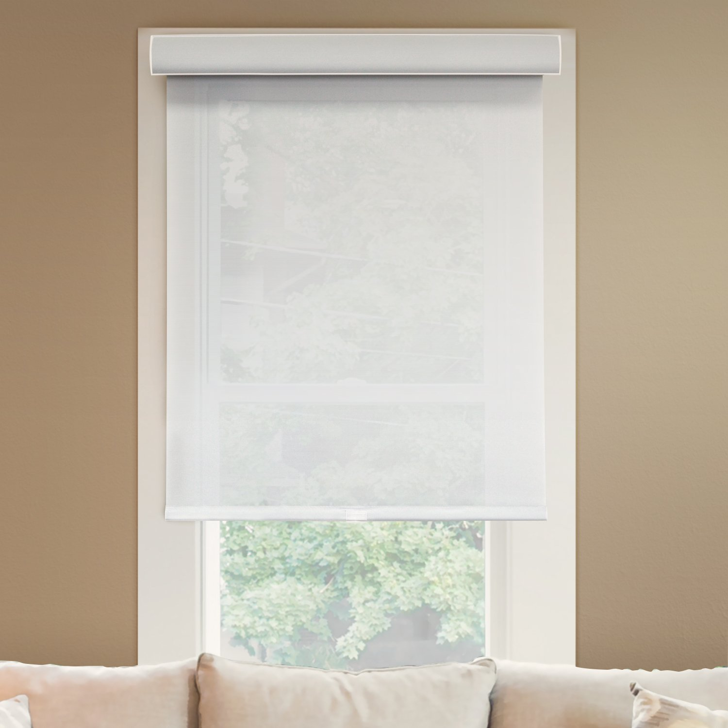 Chicology Deluxe Free-Stop Cordless Roller Shades No Tug Privacy Window Blind, 71'' W X 72'' H, Magnolia (Light Filtering)