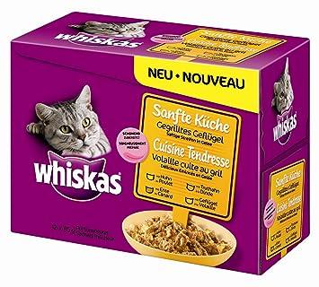 whiskas 1571260031 - comida para gatos sabor aves 12 bolsitas de 85 gr: Amazon.es: Productos para mascotas