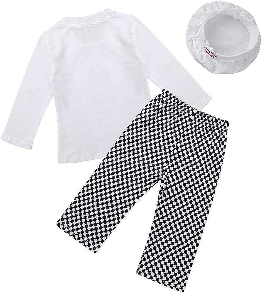 dPois Disfraz de Cocinero Bebé Niño Niña Camisa Manga Larga ...