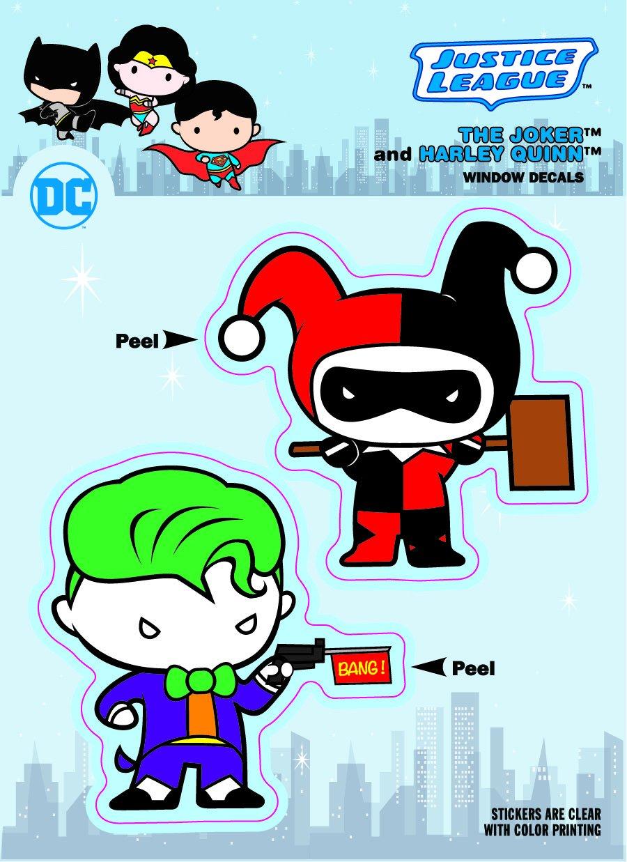 DC Comics ST DCCB BMWW Chibi DC Comics Chibi Justice League Batman /& Wonder Woman Duo Car Window Decal