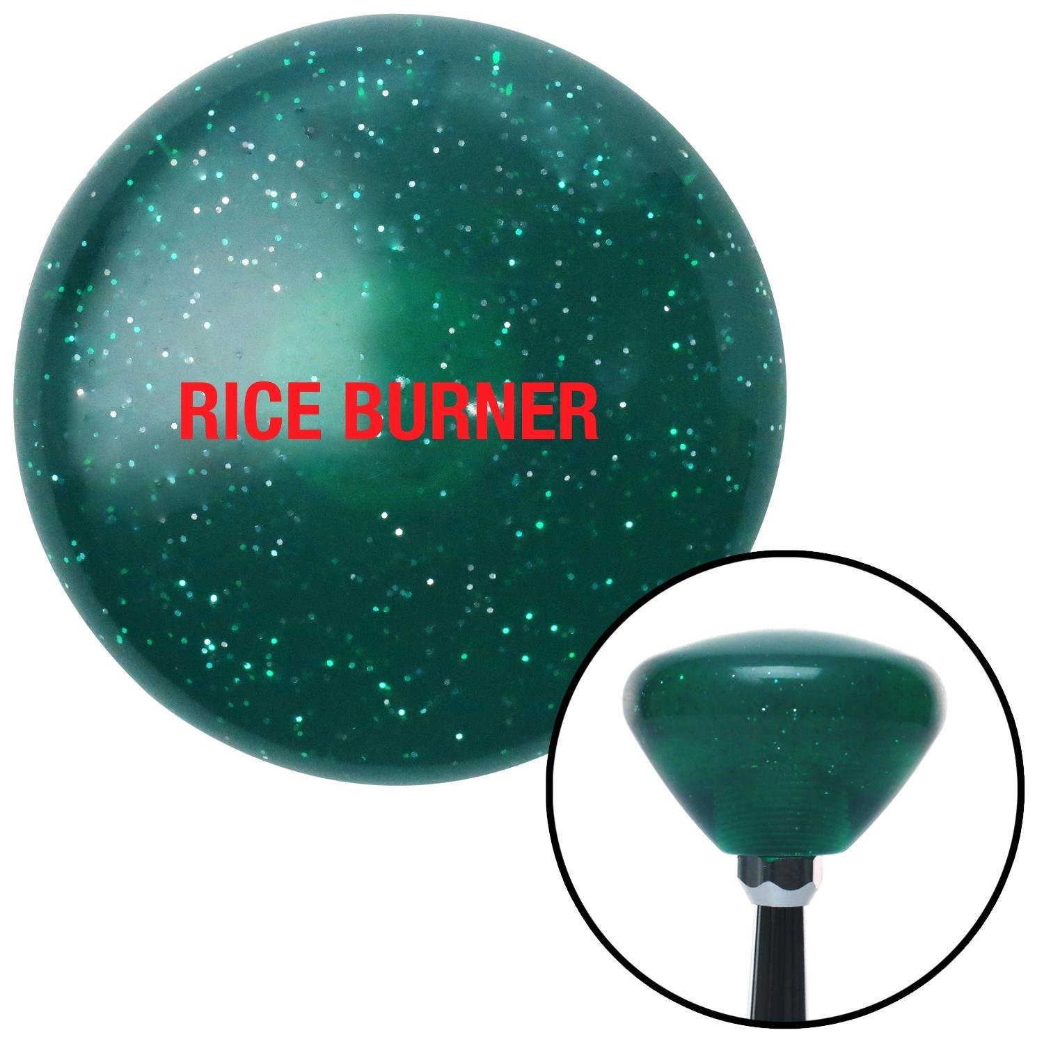 Red Rice Burner American Shifter 205820 Green Retro Metal Flake Shift Knob with M16 x 1.5 Insert