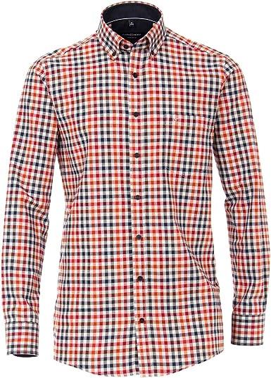 Casamoda Camisa Franela Escocesa Canela-Rojo Marino XXL: Amazon.es: Ropa y accesorios
