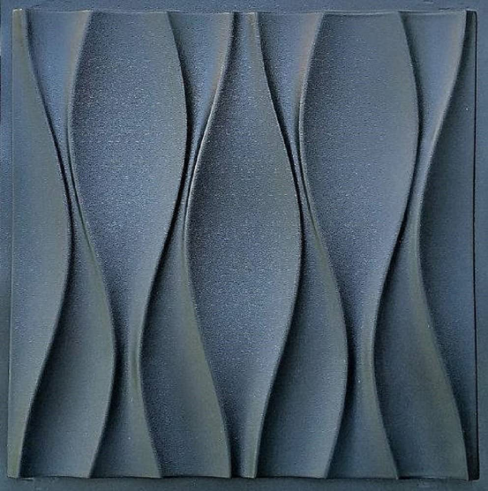 Plastic mold for 3d decor wall panels #14, for plaster (gypsum) or concrete
