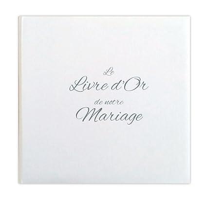 Livre D Or Mariage Blanc Effet Toile Fabrique En France Ldtmb