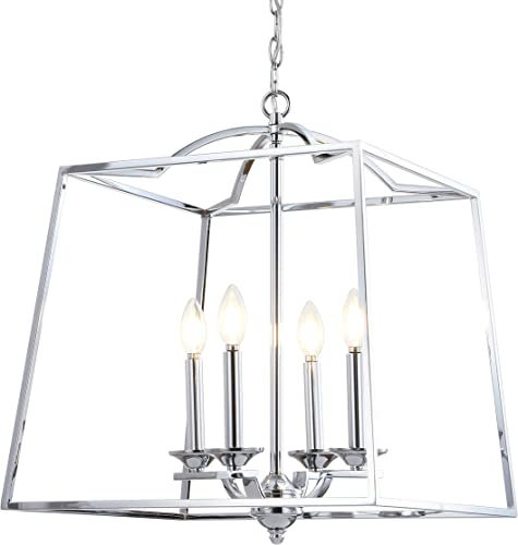 JONATHAN Y JYL7411A Gloria 19″ 4-Light Metal LED Pendant