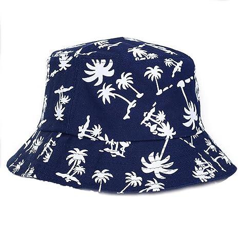 Elecenty Estivo Unisex Coconut Tree Stampe Cotone Hat Cappello da pescatore  Berretti visiera di sole Spiaggia 5c8adabd5c8c