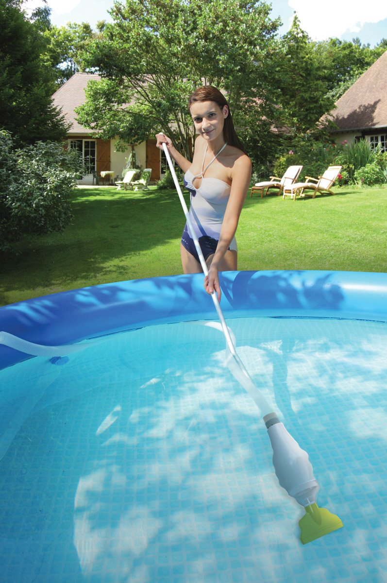 Intex 15' x 42'' Easy Set Pool Complete Kit w/ 1000 GPH Filter Pump & Skooba Vac