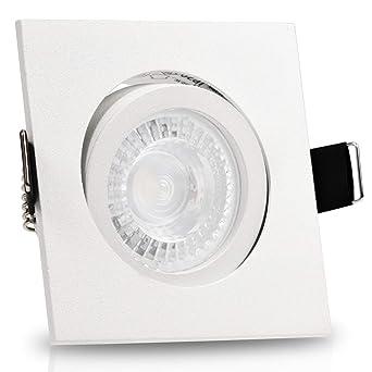 1-12er Set dezent LED Decken-Einbaustrahler Einbauleuchten Einbauspots GU10 230V