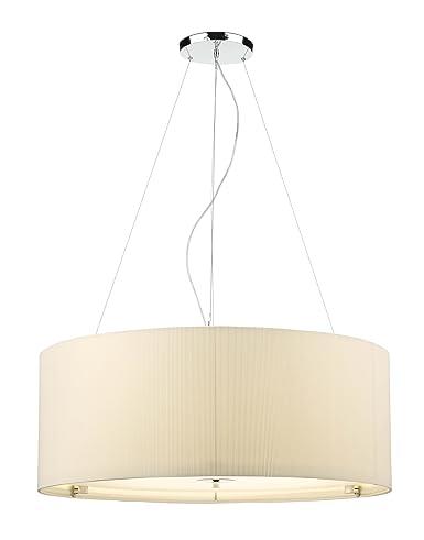 Dar Zaragoza 6-Light lámpara de techo colgante con pantalla de color beige grandes,