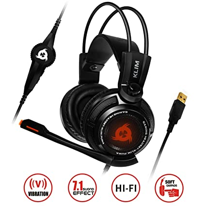 Klim Puma Gaming Headset Usb Gamer Headset With Mic 71