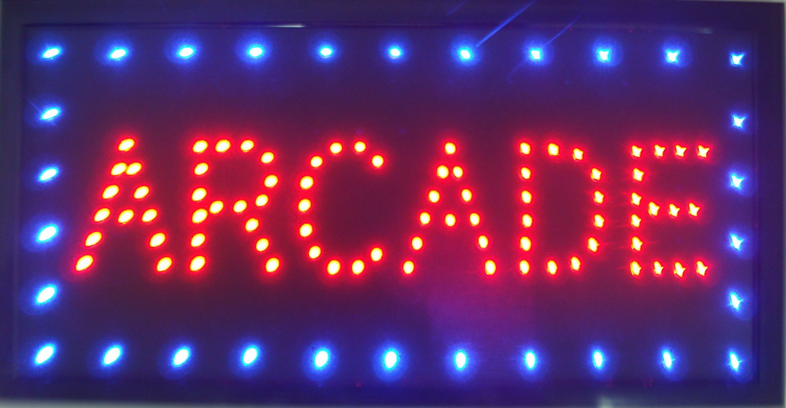 CHENXI LED Arcade Shop Open Sign Special Offer Graphics Ultra Bright Flashing 10 x19 Inch(48X25 cm) Store Signboard (48 X 25 cm, Arcade)