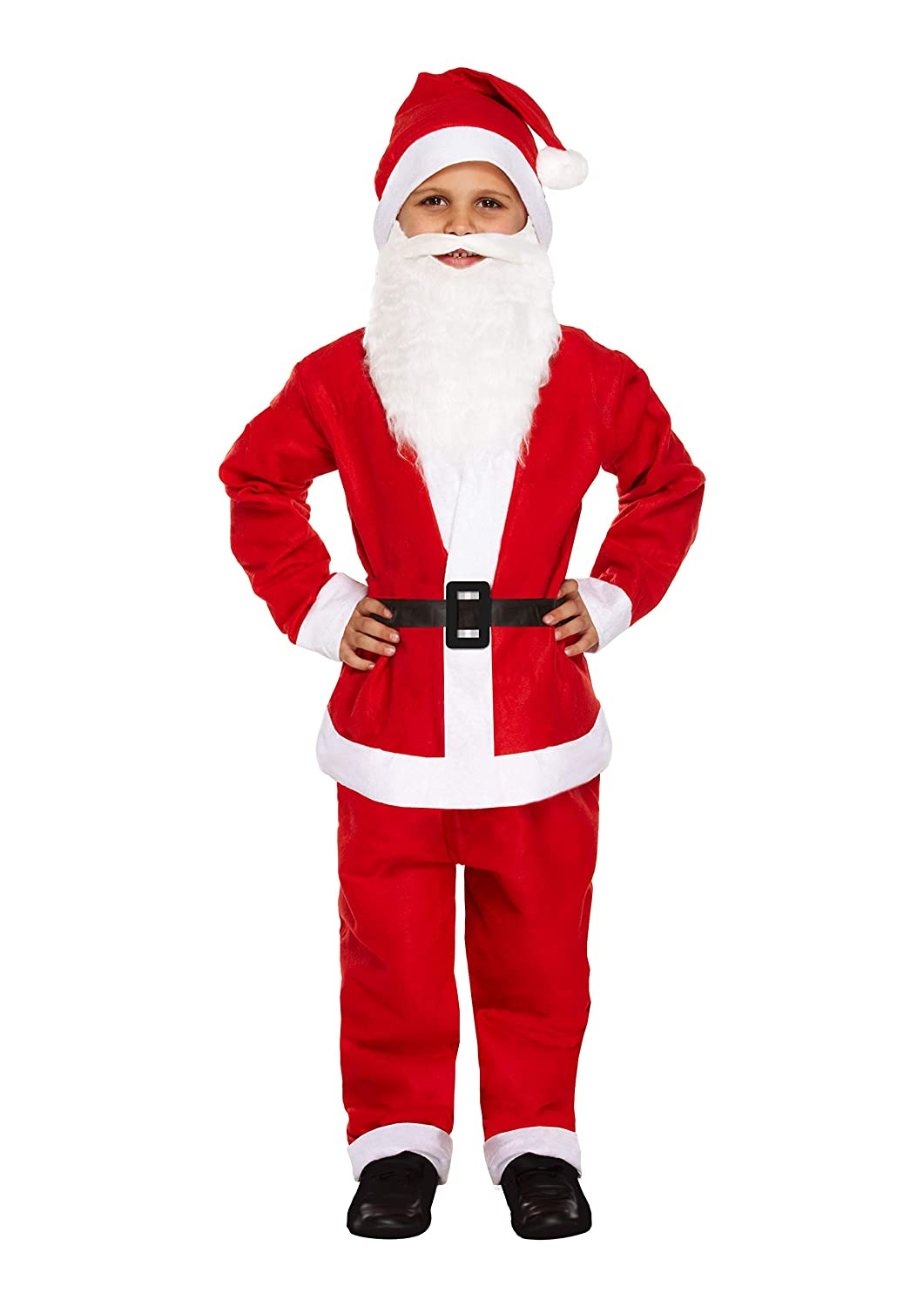 Henbrandt Small Santa Father Christmas - Childs Dressing Up Outfit (Ages 4-6 Years)