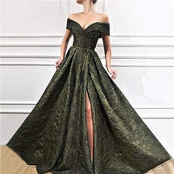 Bingqz Noche Vestidosfuera Del Hombro Diseño Vestidos