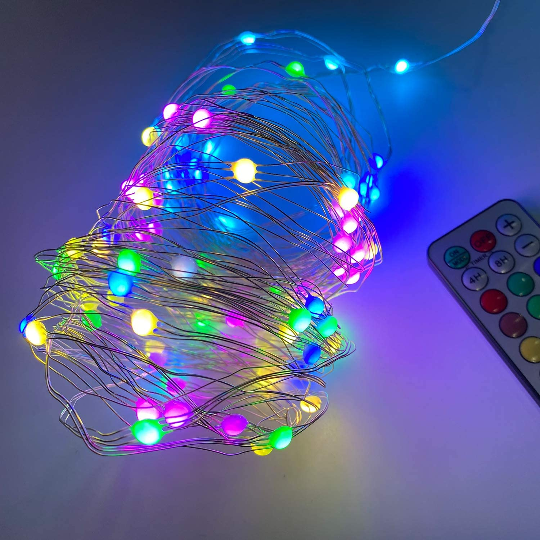 Guirnalda de 100 luces LED multicolor con 12 modos y mando a distancia por sólo 7,99€ (marcando aplicar cupón)