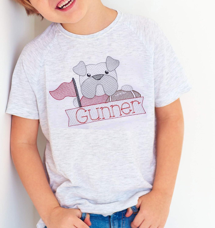 Go Dawgs Personalized Football SEC Team Boys Girls Toddlers Shirt Kids Georgia Bulldogs Custom Personalized UGA