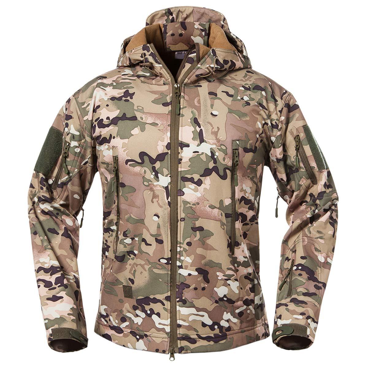 ویکالا · خرید  اصل اورجینال · خرید از آمازون · ReFire Gear Men's Soft Shell Military Tactical Jacket Outdoor Camouflage Hunting Fleece Hooded Coat Cp Large wekala · ویکالا