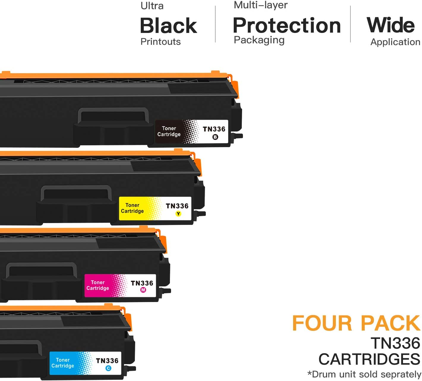 1 Black 1 Magenta Purpplex New Compatible tn331hy High Yield Toner Cartridge for HL-L8250CDN HL-L8350CDW HL-L8350CDWT Printers 1 Yellow 1 Cyan