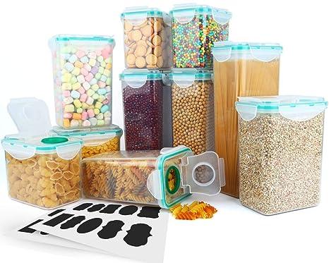 Amazon Com Cereal Container Verones Airtight Plastic Storage
