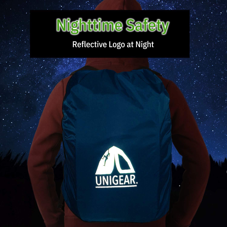 Unigear Funda Impermeable para Mochila 15~90L Cubierta de Bolsa Bolso Protector de Lluvia para Camping Senderismo Excursionismo