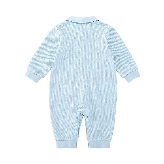 363cc747d pureborn Baby Coverall Natural Cotton Jumpsuit Newborn Onesie Sleep ...