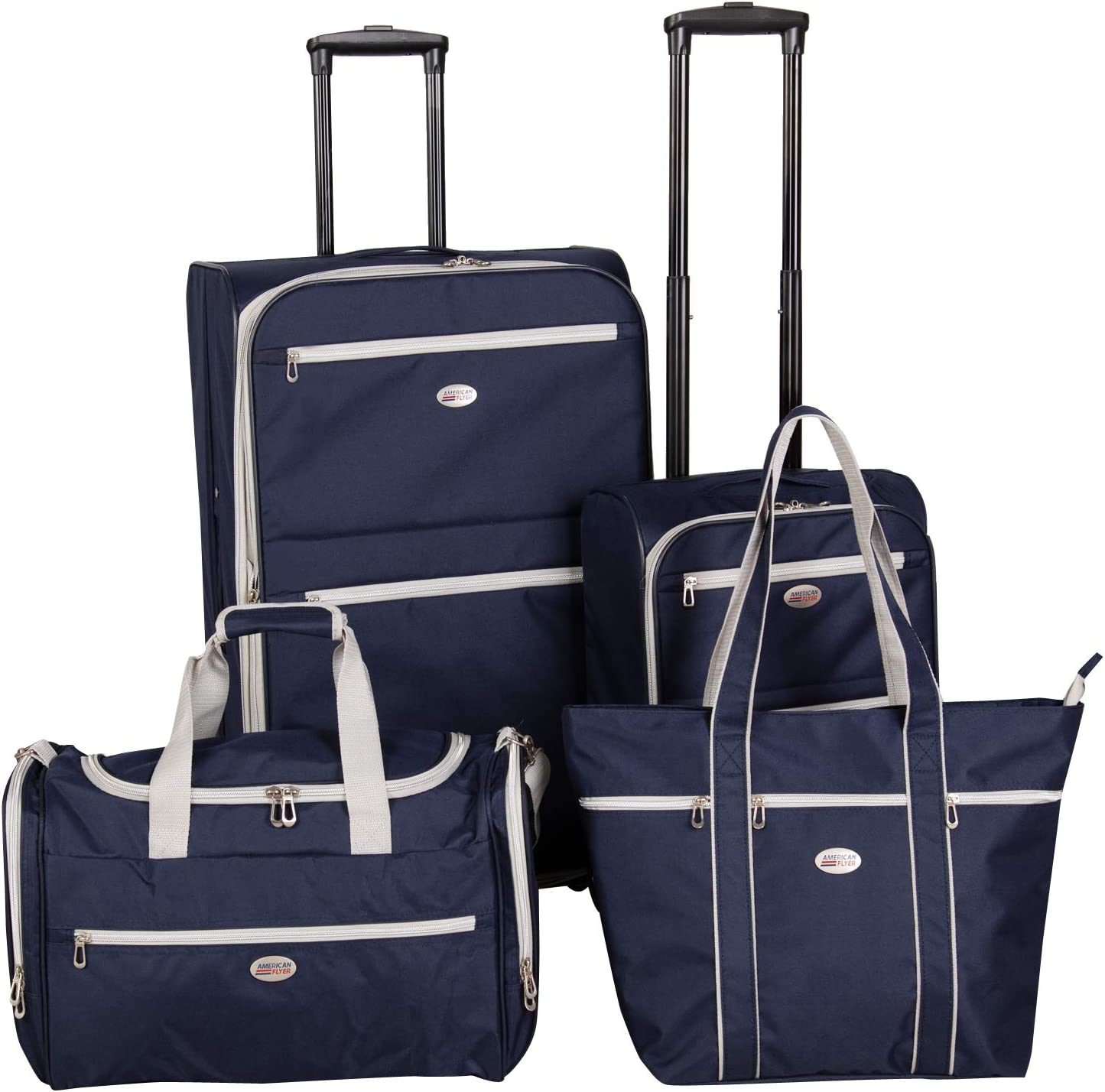American Flyer Perfect 4-Piece Luggage Set, Navy
