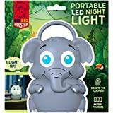 Big Red Rooster BRRC117 Portable Elephant LED Night Light With Handle - Operates On 3 AAA Batteries - Childrens Night Light Kids Night Light