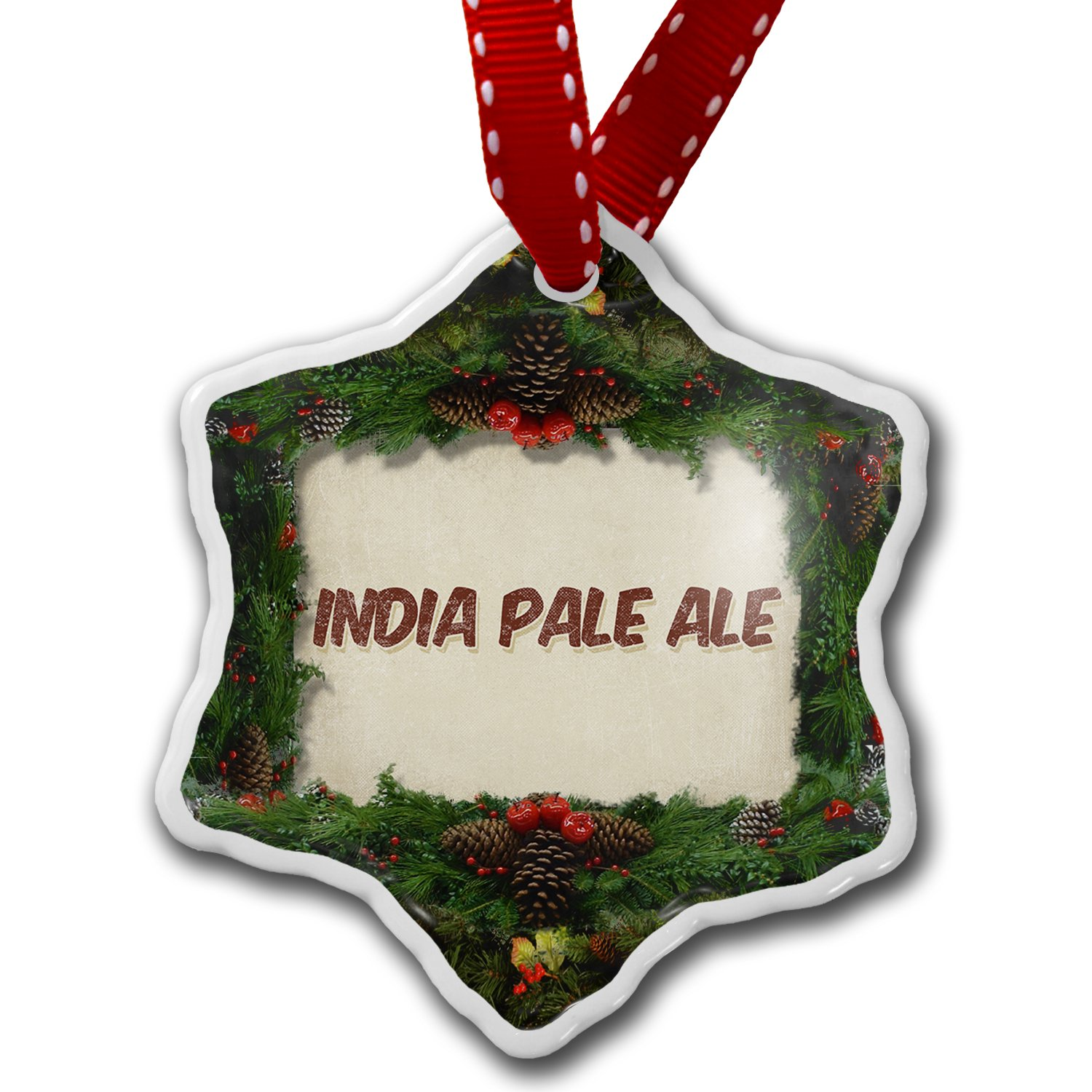 Amazon.com: NEONBLOND Christmas Ornament India Pale Ale Beer ...