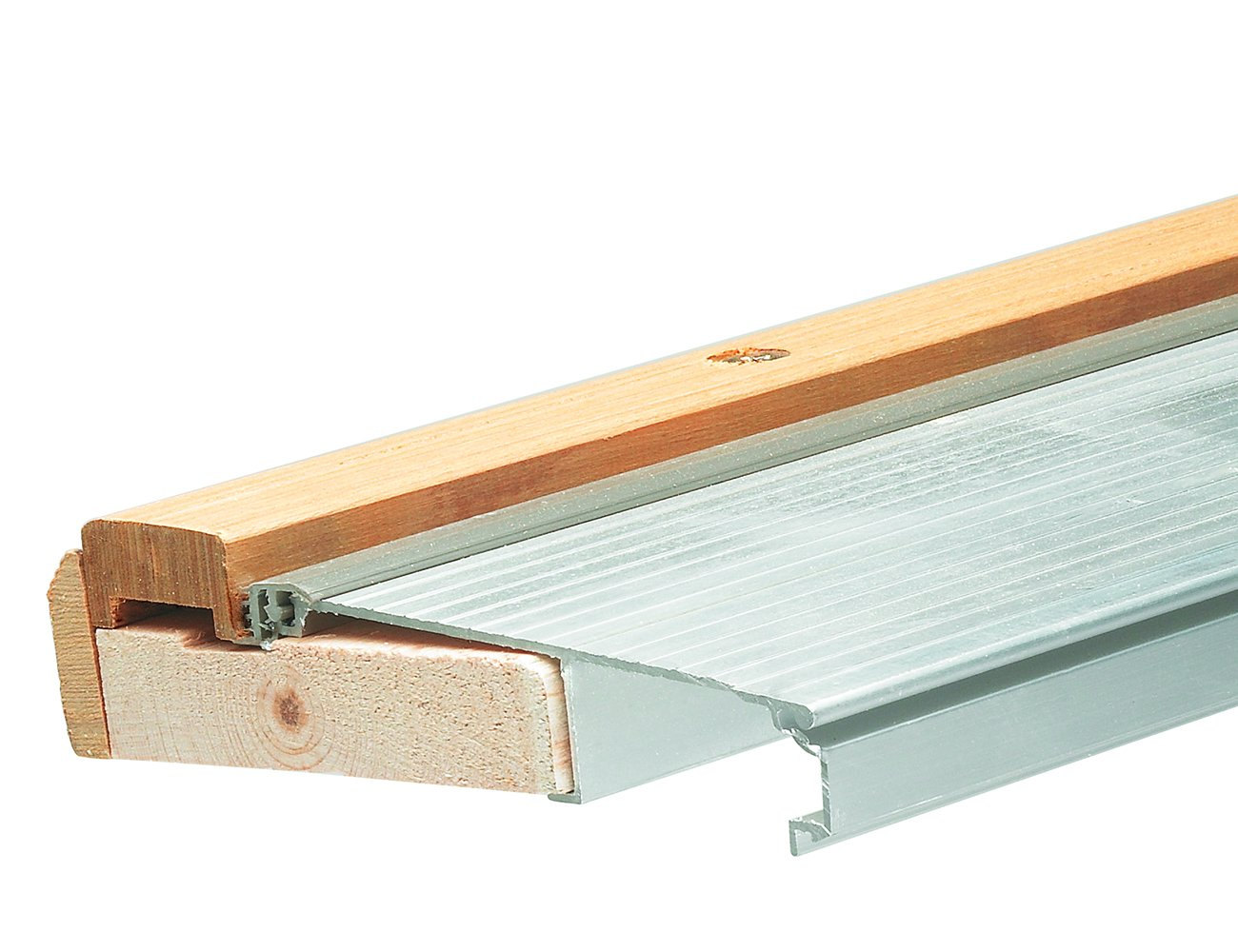"""Frost King TAOC36A Adjustable Sill Threshold, 36 in L X 5-5/8 in W X 1-5/16 in H, Aluminum, 3' L x 5-5/8"""" W x 1-3/8"""" H, Mill Finish"""