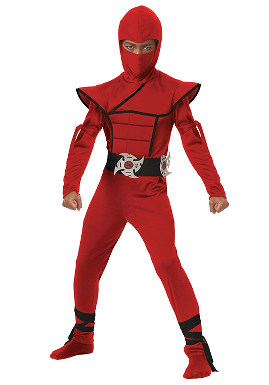 Boys Red Stealth Ninja Costume - XS