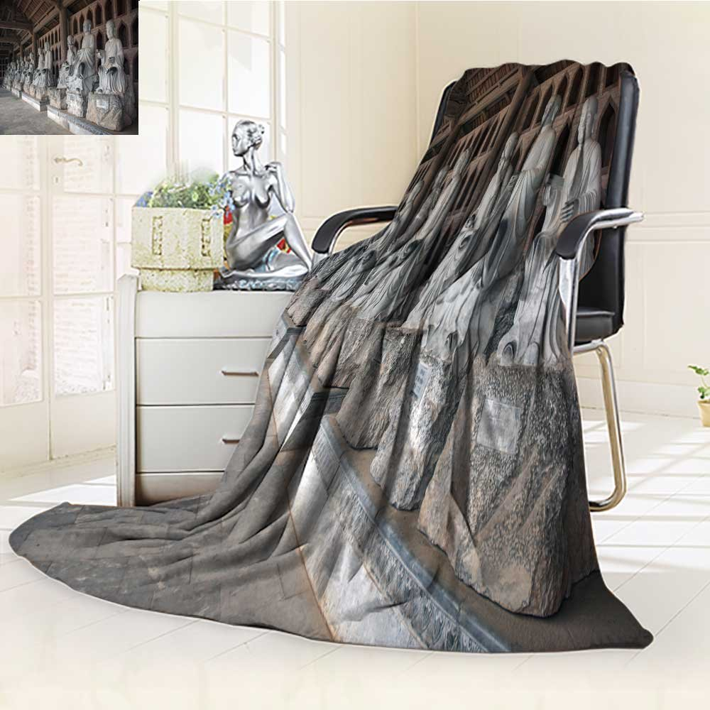 Luminous Microfiber Throw Blanket ninh binh vietnam march green stone buddha bai dinh pagoda ancient temple south Glow In The Dark Constellation Blanket, Soft And Durable Polyester(60''x 50'')