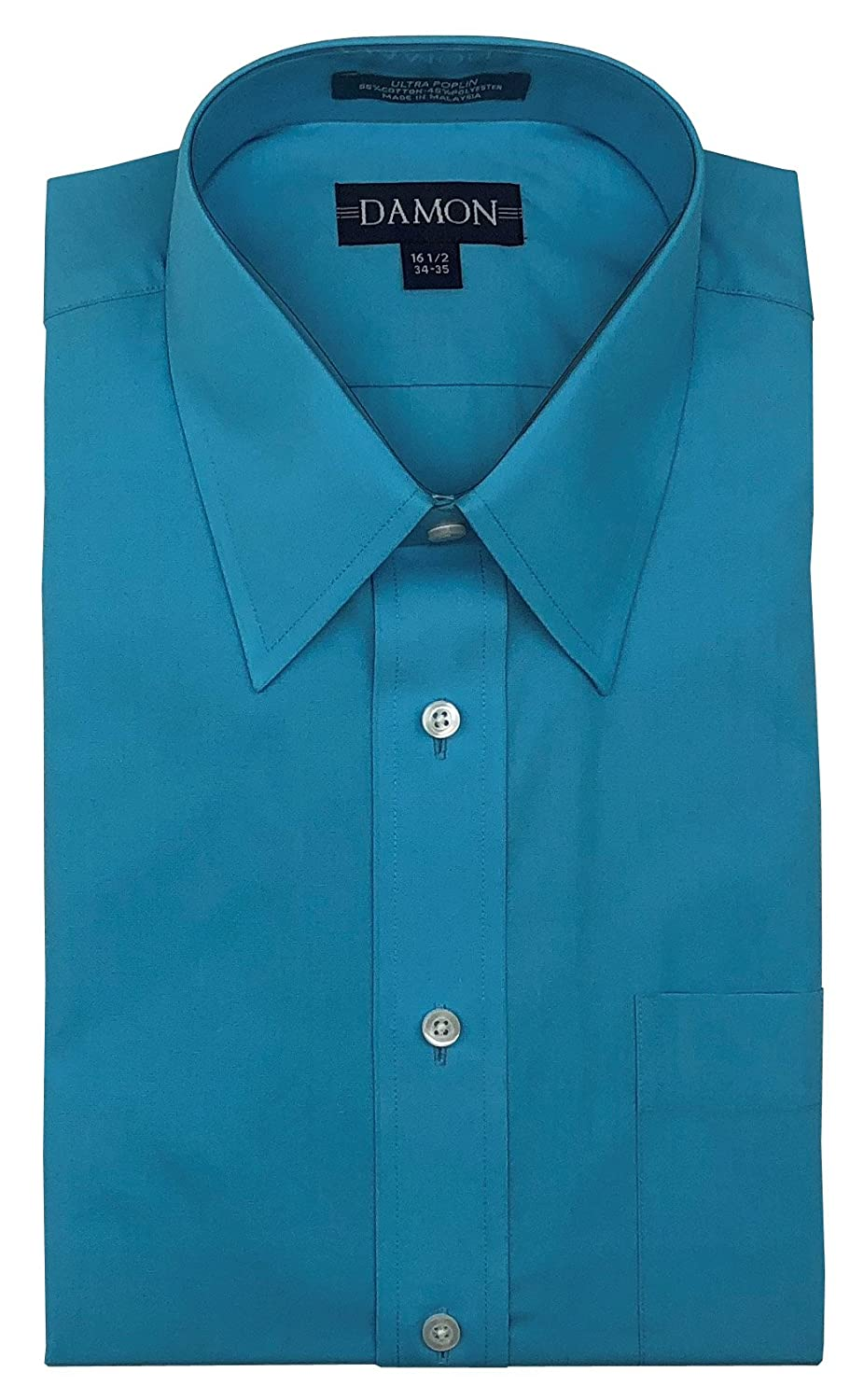 Damon Point Collar Solid Color Poplin Dress Shirt