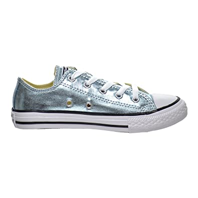 5a063eaeb342 Converse Chuck Taylor All Star OX Low Top Little Kid s Shoes Metallic  Glacier 354038f (11.5