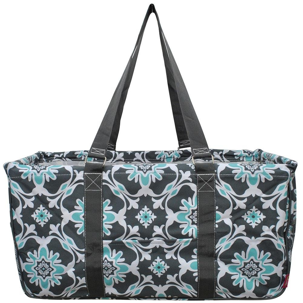 NGIL All Purpose Open Top 23'' Classic Extra Large Utility Tote Bag Spring 2018 Collection (Quatro Vine Grey)